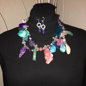 Jewelry - Handcrafted Many Stones Necklace
